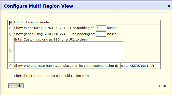 Configure Multi-Region view